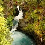 Winner Creek Gorge Trail, Girdwood, Alaska.