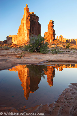 Courthouse Towers, Arches National Park, near Moab, Utah