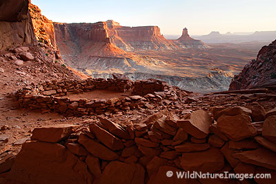 False Kiva, Canyonlands National Park, Utah.