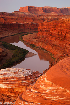 Colorado River and Red Rock near Moab, Utah