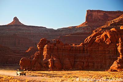 Driving on Potash Road, Moab, Utah.