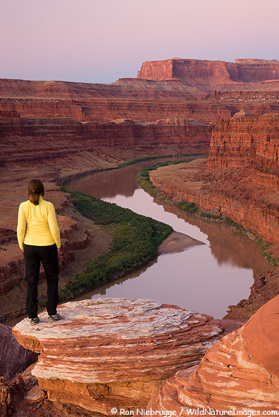 Overlooking the Colorado River, Moab, Utah.