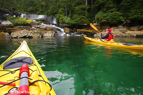 Kayaking in Prince William Sound, Alaska.