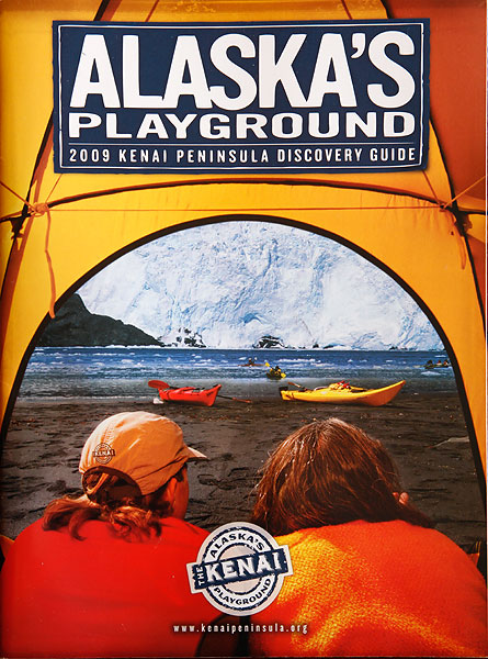 Cover of the Kenai Peninsula Tourism Marketing Council Travel Guide, Alaska.