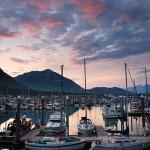 Sunset Over Seward Boat Harbor