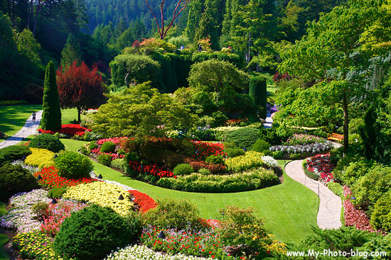 The Sunken Garden, Butchart-Gardens, Victoria.