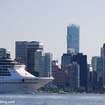 Cruise Ship Leaving Vancouver