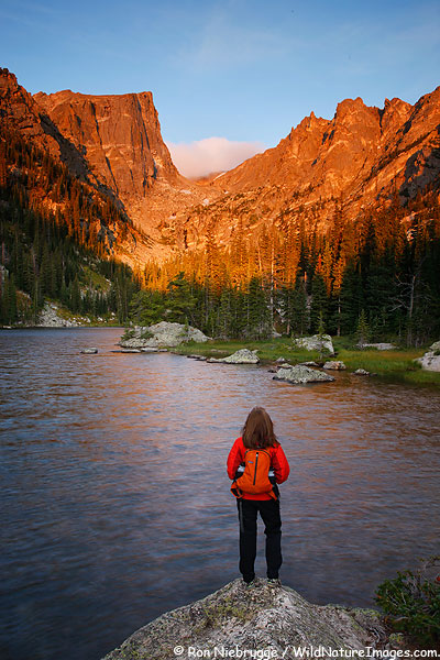 Janine at Dream Lake, Rocky Mountain National Park, Colorado.