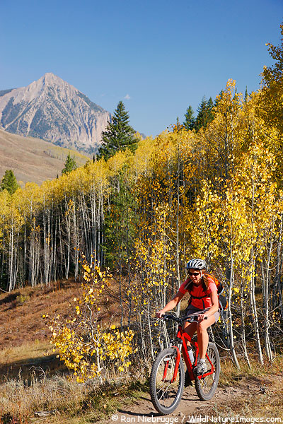 Janine riding the Upper Loop, Crested Butte, Colorado.