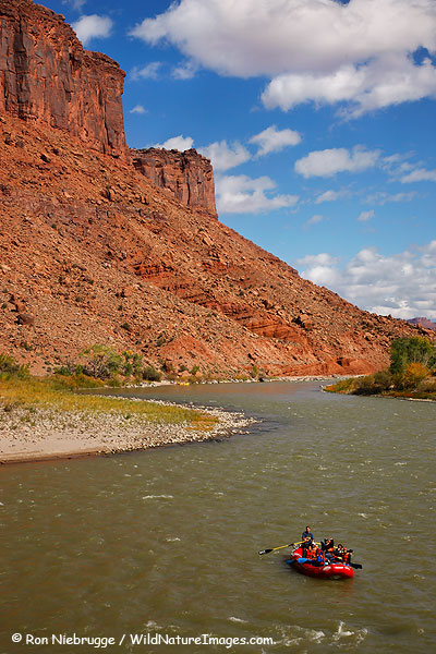 Rafting on the Colorado River, near Moab, Utah.
