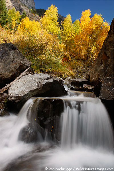 A waterfall near Ouray, Colorado.