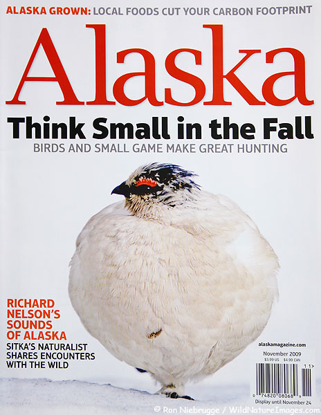 Cover of Alaska Magazine, November, 2009.