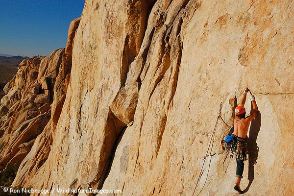 Matt Van Biene working his way up a wall.
