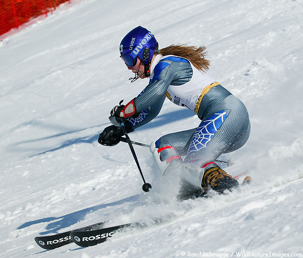 Lindsey Vonn (was Lindsey Kildow at the time) at the 2004 U.S. Alpine Championships at Alyeska Resort, Girdwood, Alaska.