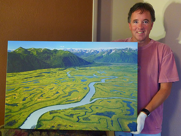 Gallery wrapped canvas print of the Copper River Delta, Chugach National Forrest, Alaska.