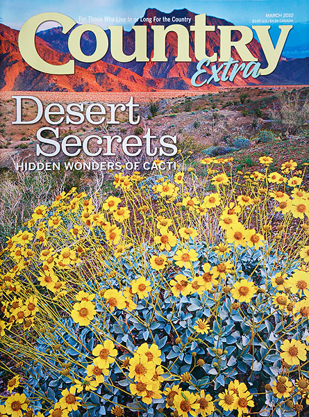 Anza-Borrego Desert State Park on the cover of Country Extra.