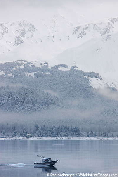 Boating on Resurrection Bay, Seward, Alaska.