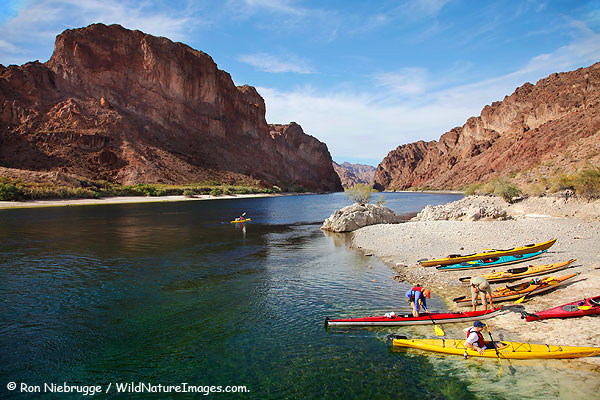 Kayaking in the Black Canyon on the Colorado River, Nevada / Arizona.