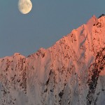 Moon over Mountains