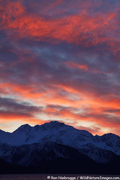A beautiful sunrise over Resurection Bay a couple of mornings ago, Seward, Alaska.