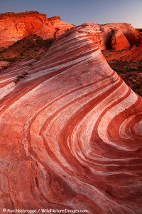 Wave like hill in Valley of Fire State Park, Nevada.