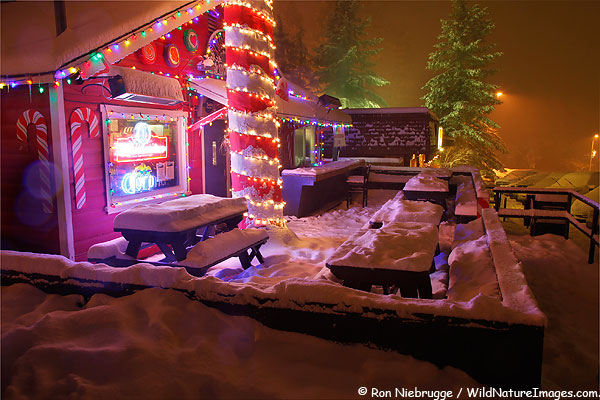 """The Yoddler in """"downtown"""" Wrightwood, California."""