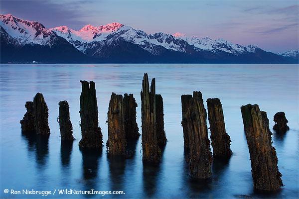 Resurrection Bay at sunset, Seward, Alaska.