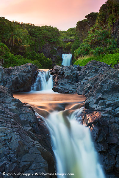 Seven Sacred Pools or O'heo Gulch, Haleakala National Park, near Hana, Maui, Hawaii.