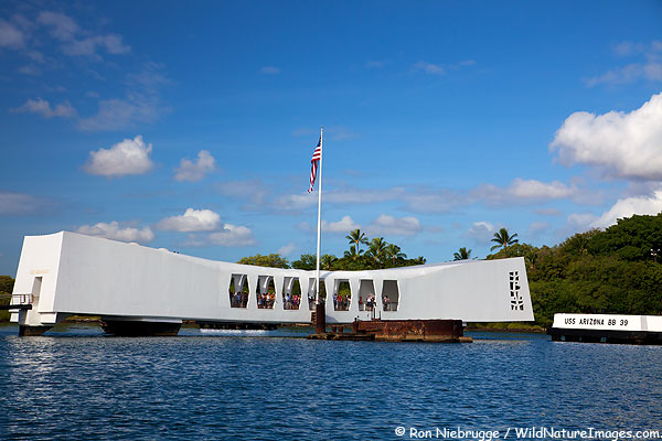 USS Arizona Memorial, Pearl Harbor, Honolulu, Hawaii.