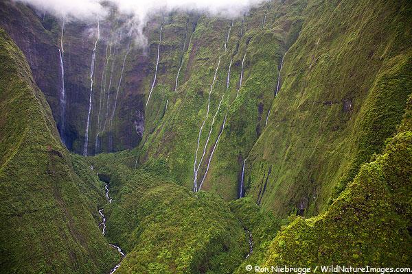 Waialeale Crater, Kauai, Hawaii.