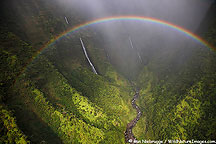 Rainbow over Kauai, Hawaii.
