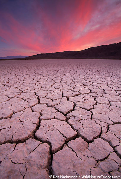 Dry lake bed at sunset, Anza-Borrego Desert State Park, California.