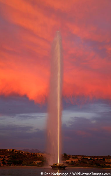 The world's largest fountain, Fountain Hills, Arizona.