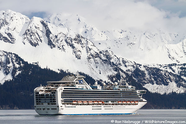 Diamond Princess leaving Seward, Alaska.