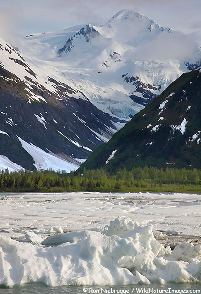 Portage Lake, Chugach National Forest, Alaska.