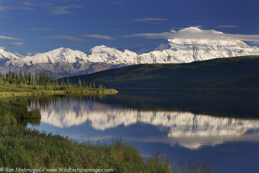 Wonder Lake, Denali National Park, Alaska.