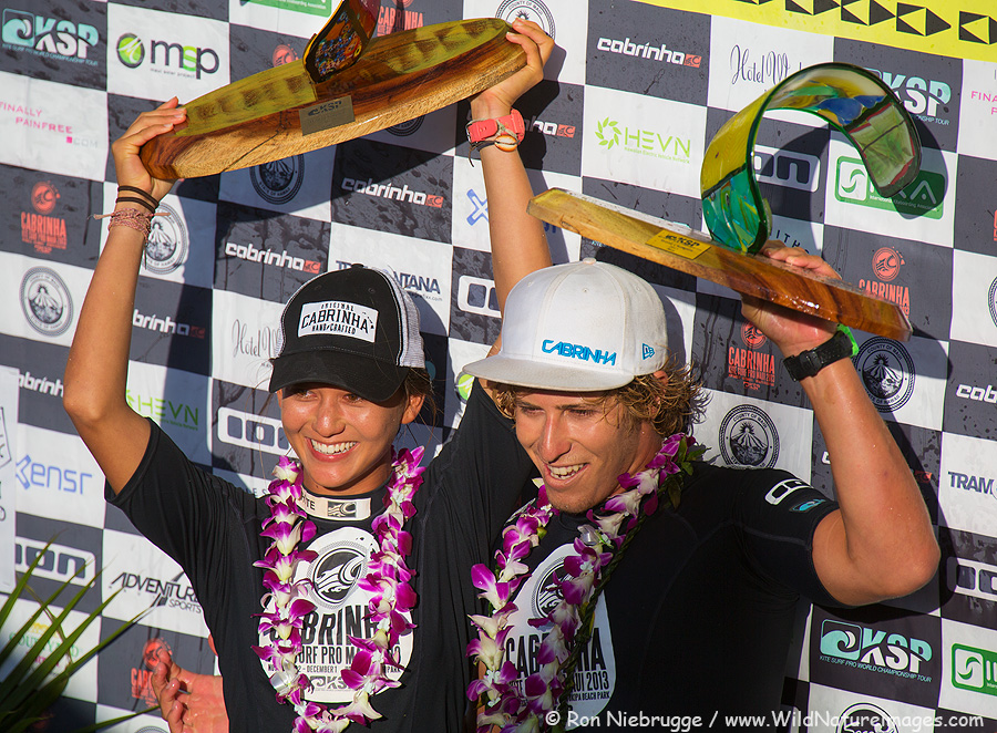 2013 World Champions.  Moona Whyte (from Hawaii) and Keahi DeAboitiz (Australia).