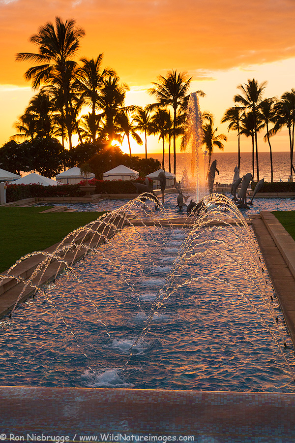 Sunset last night at the Grand Wailea, Maui, Hawaii.