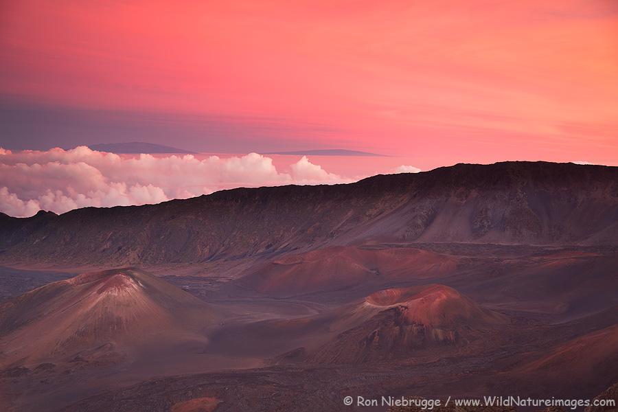 Haleakala Crater, Haleakala National Park, Maui, Hawaii.