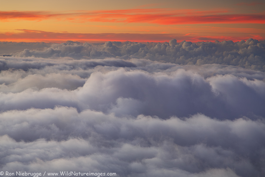Haleakala clouds, Maui, Hawaii.