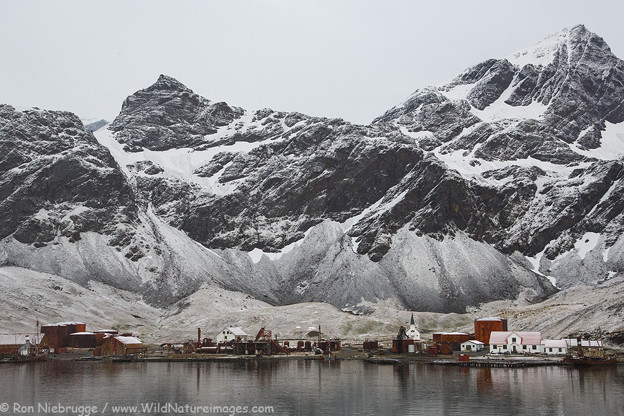 Abandoned whaling village of Grytviken, South Georgia.