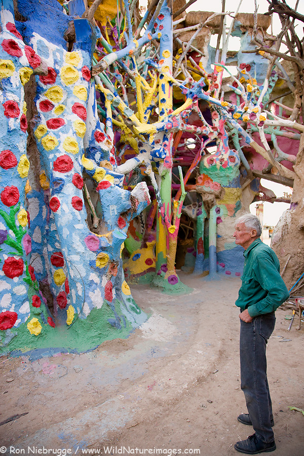 Leonard Knight, creator of Salvation Mountain.