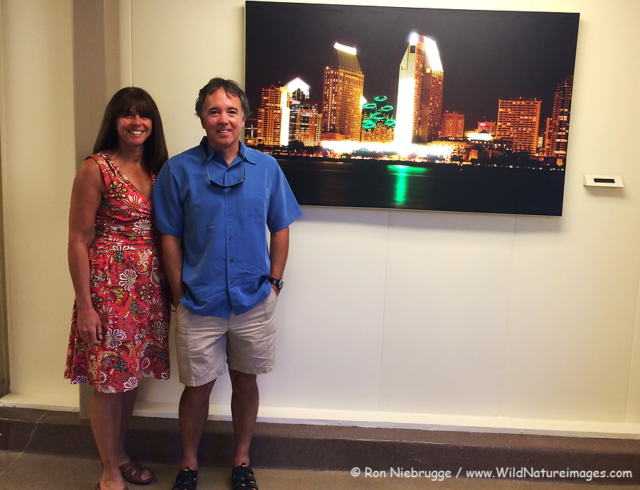 This LED backlit image of San Diego is one of 20 in a newly remodeled section of Sharp Memorial Hospital, San Diego, California.