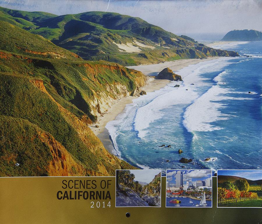 2014 Scenic California Calendar