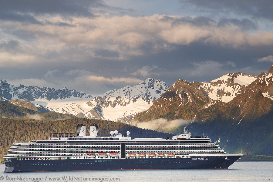 Holland America cruise-ship the Oosterdam, Seward, Alaska.