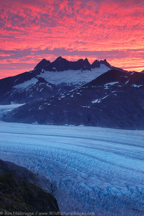 Mendenhall Glacier, Tongass National Forest, near Juneau, Alaska.