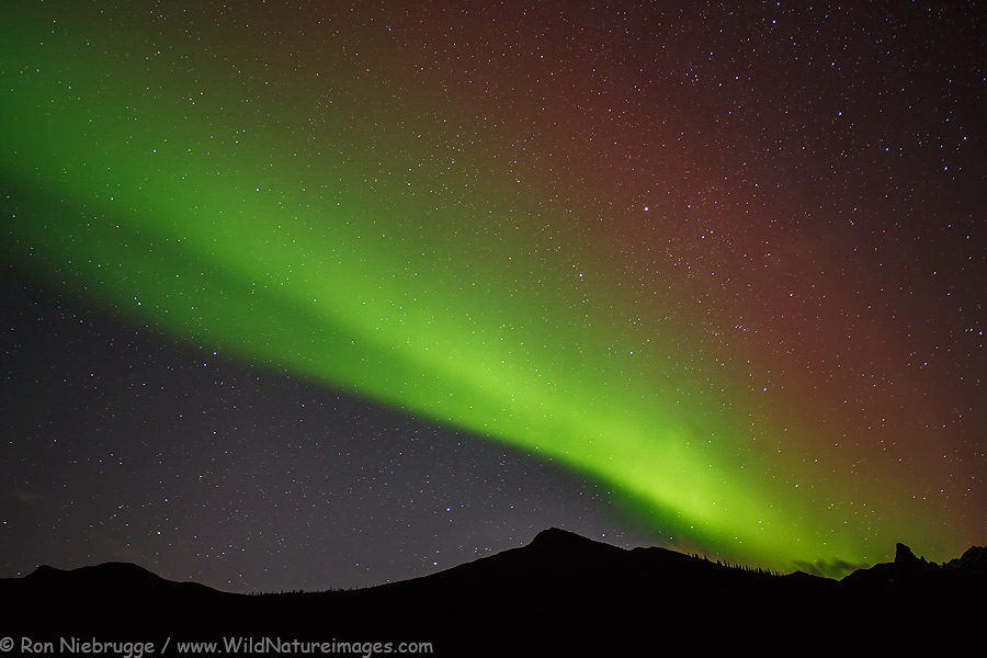 Aurora borealis over the Brooks Range last week, Alaska.