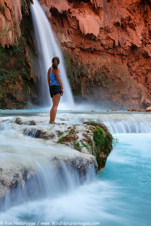 Janine at Havasu Falls, Arizona.