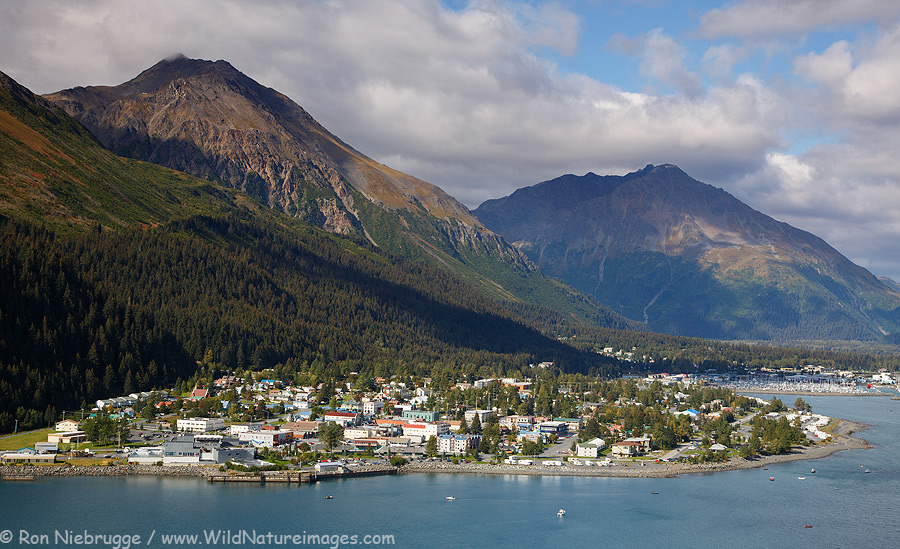 Aerial of my hometown of Seward, Alaska from this past fall.