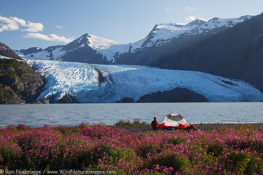 Portage Glacier and Lake, Chugach National Forest, Alaska.